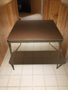 Card Table with Four Folding Chairs