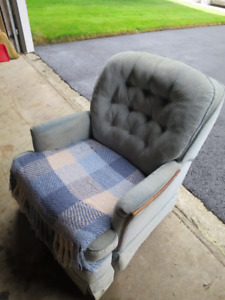 Rocker/Recliner looking for a home.+In-Line roller blades size 8