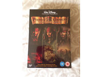 Pirates of the Caribbean three movie DVD Collection. Never opened. Only £10