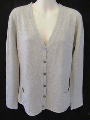 Malo Bergdorf Goodman 100% Cashmere Made in Italy Vtg Gray Cardigan Pockets M