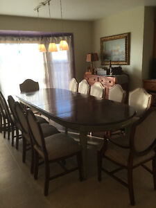Dining set seats up to 12