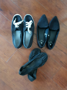 Shoes and scarves bundle!!