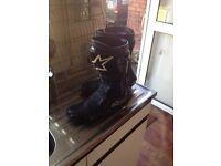 Alpinestars race boots.
