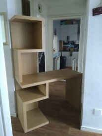 Desk with shelving