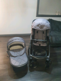 Pushchair 2-1 Venicci carbo lux special edition natural grey