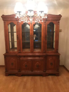 Looking to sell my glass & wood cabinet.