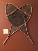 Vintage home made Snowshoes for wall hangers