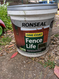 Ronseal fence stain one coat - FREE to collector