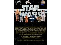 WANTED VINTAGE STAR WARS TOYS AND ITEMS