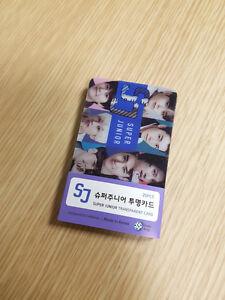 SUPER JUNIOR SUJU EUNHYUK KYUHYUN DONGHAE SIWON HEECHUL TRANSPARENT CARD 25PCS