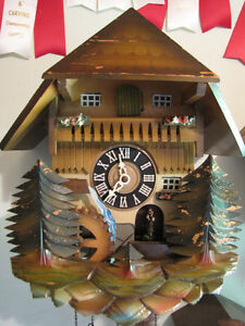 Older musical cuckoo clock, just serviced, mint condition!