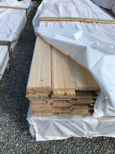 1x6 Red Pine Straight Tongue & Groove with V-Groove - LUMBER OUT