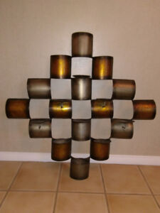 Metal decorative wall art -candle holder