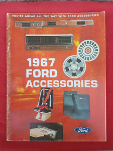 1967 FORD FAIRLANE MUSTANG BRONCO TRUCK Accessories Brochure