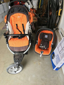 Poussette Peg Perego GT3 Orange et Brun