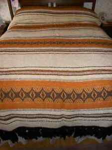 Woven bedspread cover