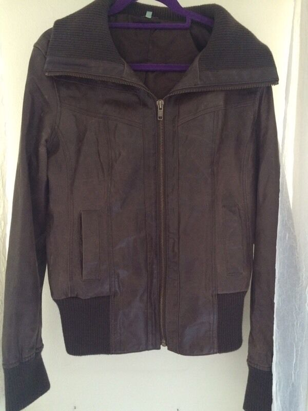 Brown Leather Jacket, 18Tin Taverham, NorfolkGumtree - Real leather jacketFrom Newlook tall rangeSleeves great length as is the bodyNo minors, perfect condition