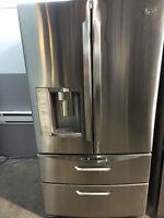 Réfrigérateur 4 portes stainless de marque LG