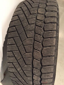 4 Continental Extreme Winter Contact tires on rims