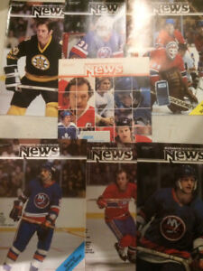 7 Scotiabank Hockey mags 1978-80 including posters