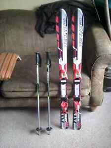 110 CM Downhill Skis, TechnoPro XR Junior, with poles Kitchener / Waterloo Kitchener Area image 1