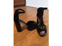 Beautiful Black Block Heels Size 5