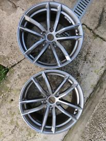 18 inch 5x112 genuine BMW 5 series rear alloy wheels