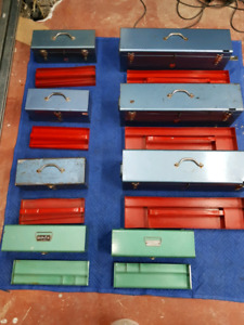 Collection of beach tool boxes for sale