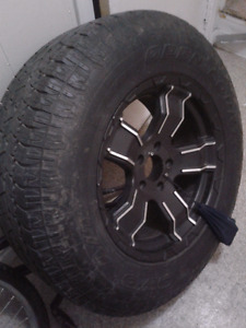 Tire on rim from 2014 jeep