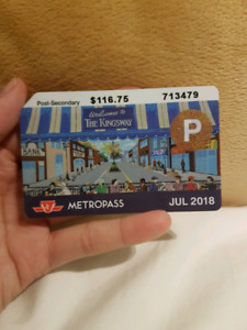 Post-Secondary TTC Metropass - July 2018