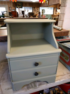 Beautiful Solid Wood Painted Night Stand