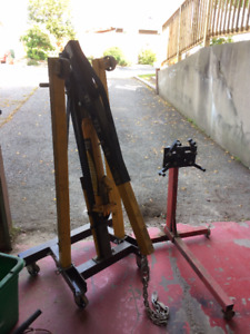 shop crane and engine stand combo