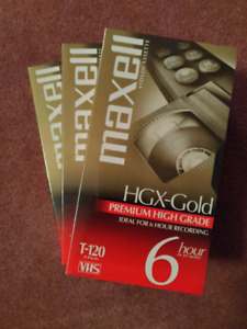 VHS Video Tapes, Brand New - Maxell and BASF - 4