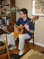 Music lessons for the guitar & preparation for RCM exsam