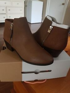 Size 7 brown ankle boots. Brand new