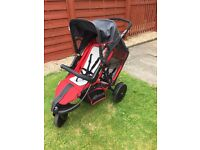 Hauck free rider twin/double buggy
