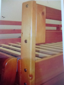 Solid wood loft bed with trundle