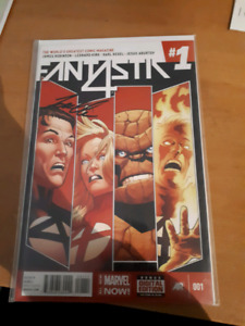 Fantastic 4 #1 and #2 signed by Leonard Kirk