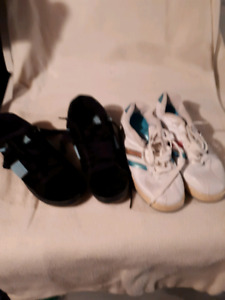 Two pairs of ladies sneakers size 5 just like new $15