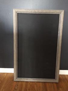 Grey chalkboard frame wedding event decor