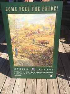 Hard plowing match poster