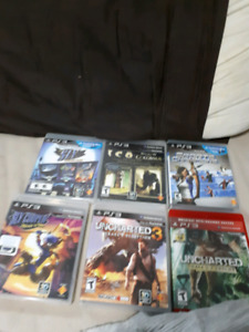 6 PS3 Games $4 each or $20 for all
