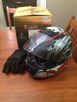 Scorpion eXc black and red helmet