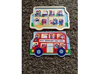 Wooden bus puzzle