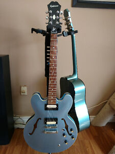 Epiphone ES-335 Semi-Hollow Pelham Blue (upgraded)