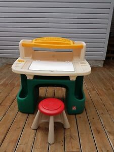 Kids' Step 2 Deluxe Art Master Desk with stool for sale