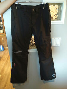 Women's Sessions Snow Pants - Black With Grey Accents - S