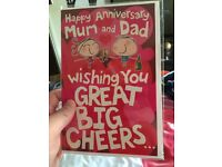 Happy anniversary card for mum and dad