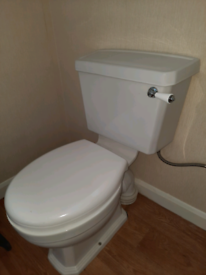 Toilet and sink suite