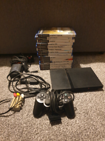 Playstation 2 with 14 games